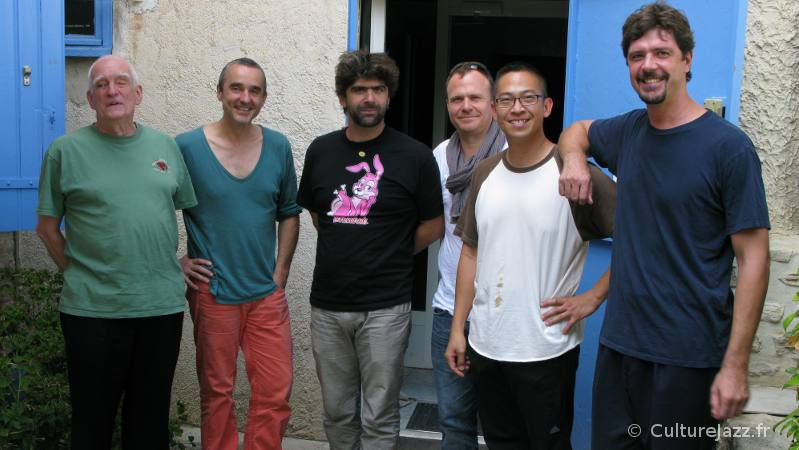 Steve Swallow, Christophe Marguet, Benjamin Moussay, Régis Huby, Cuong Vu et Chris Cheek, le 5 septembre 2012.