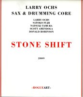 Larry Ochs sax & drumming core « Stone Shift » -  voir en grand cette image